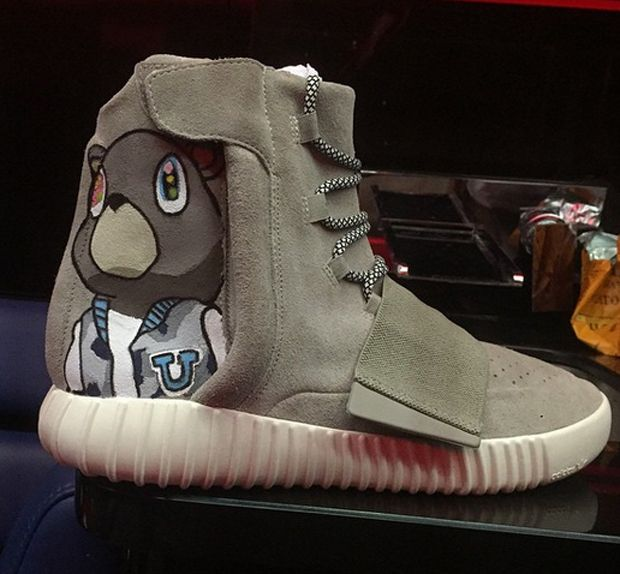 Chris Brown s adidas Yeezy Boost Pays Tribute To Kanye West -  SneakerNews.com 0f053b4b2546