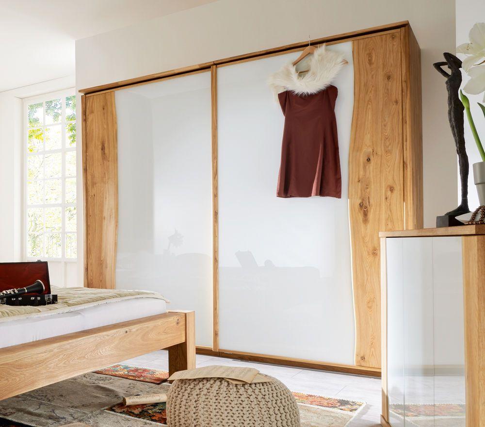Schwebeturenschrank Kleiderschrank 2 Mit Baumkante In Wildeiche 240 Cm Kleiderschrank Holz Kleiderschrank Massivholz Kleiderschrank Eiche