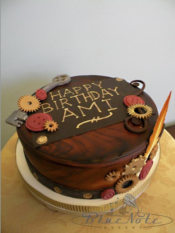 Steampunk Theme Birthday Cake Blue Note Bakery Austin