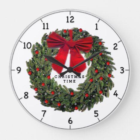 Christmas Time Large Clock #Christmas #MerryChristmas #2019