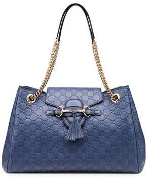 bc1af3e6d83 Gucci Emily Guccissima Leather Shoulder Bag