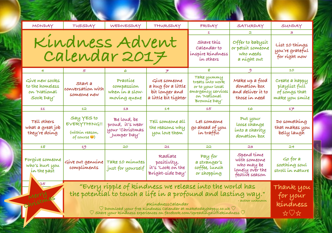 How to celebrate kindness this holiday season with \