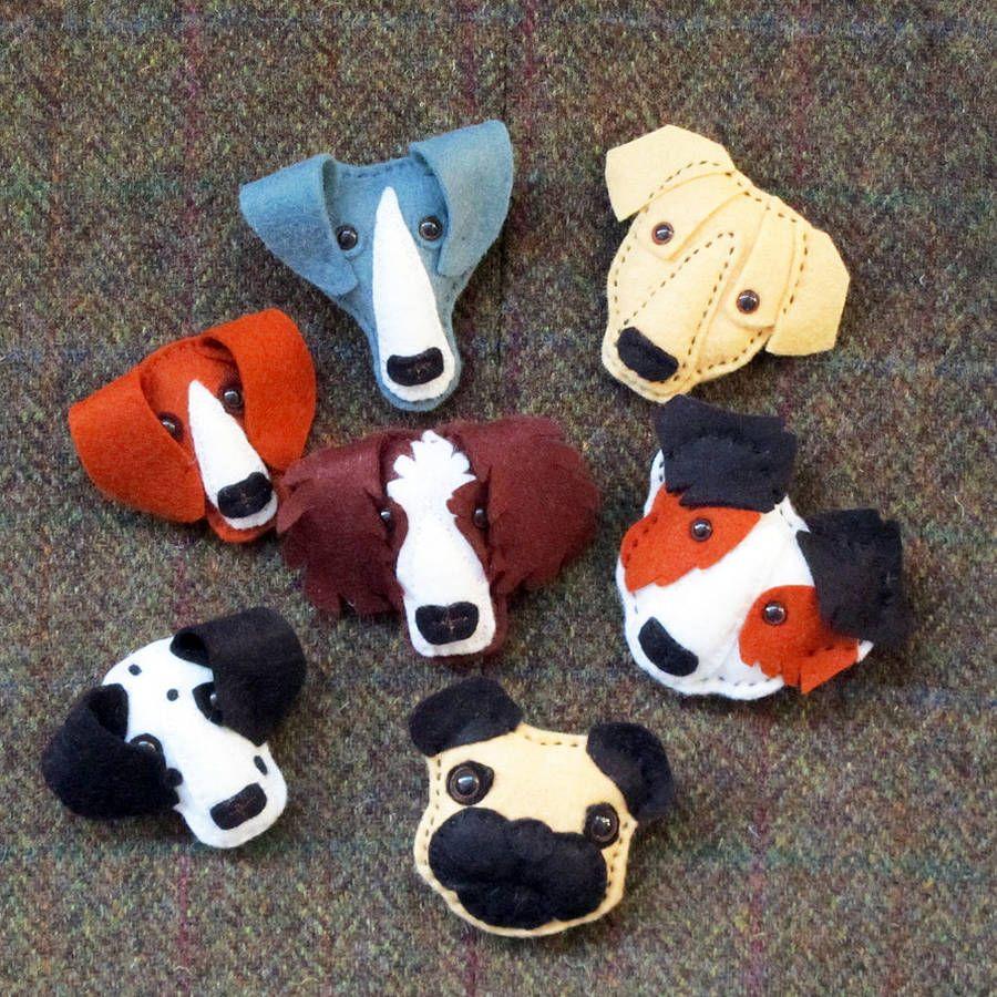 handmade felt dog brooch felt dogs handmade felt and felting