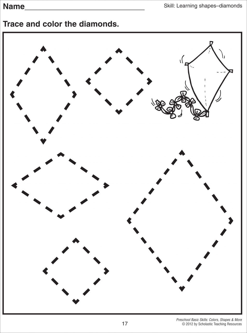 Rhombus Worksheets For Preschool Actividades para