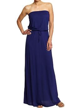 Old Navy Tie-Waist Tube Maxi Dress