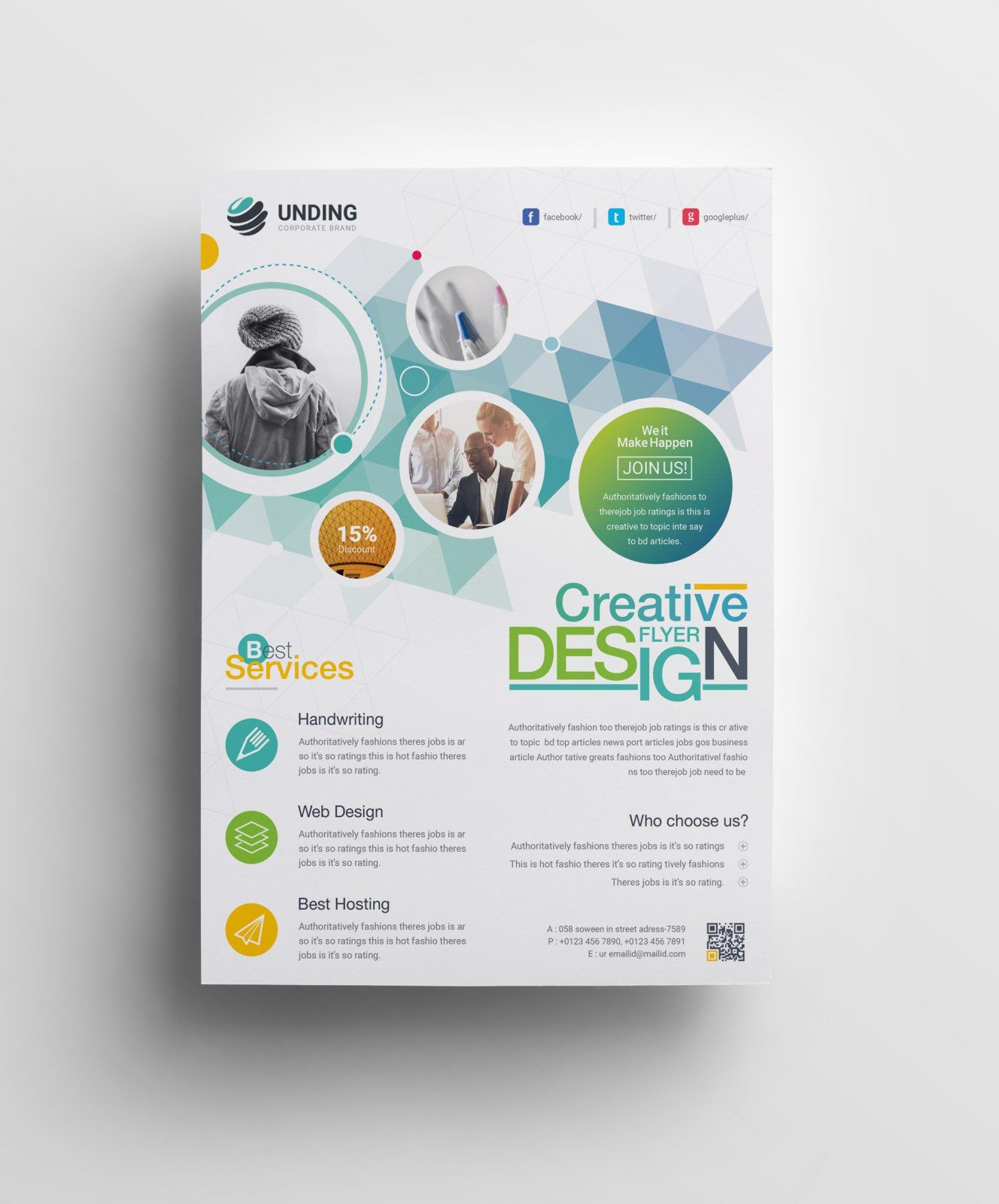 Hephaestus Elegant Corporate Flyer Template 000971 | Ideas