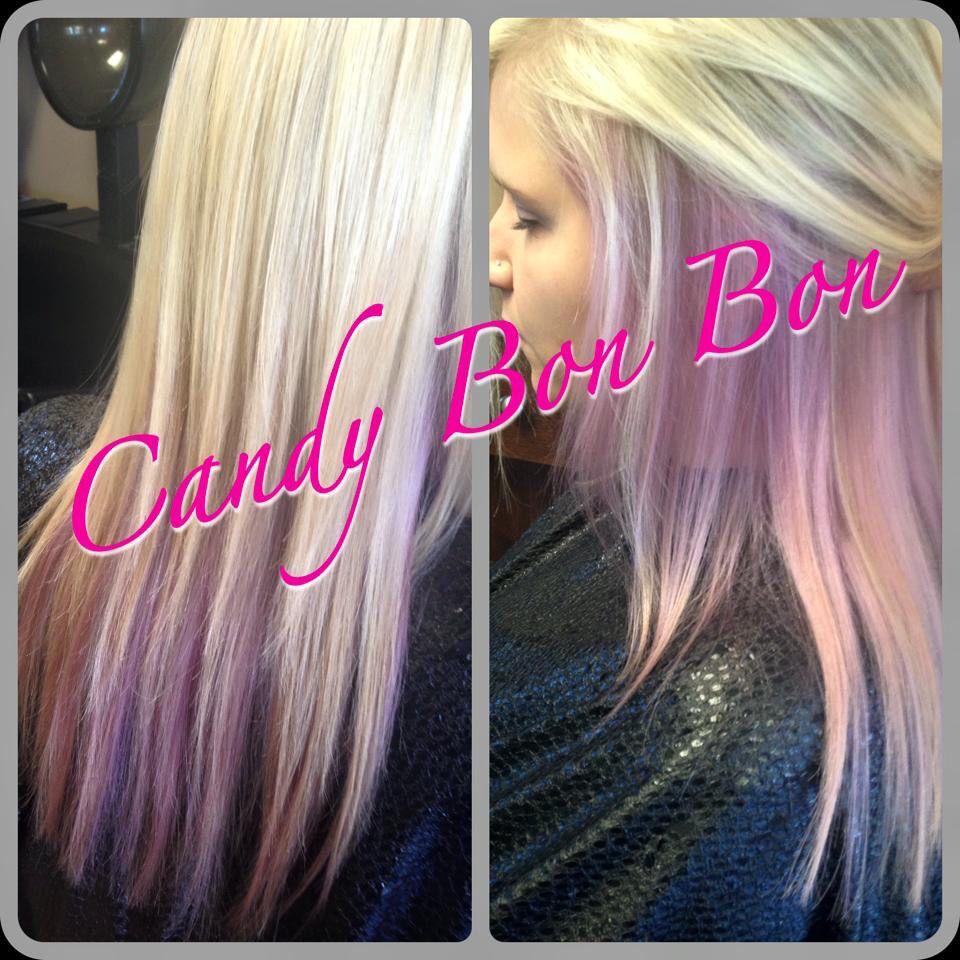Pastel Candy Pink Hair Underneath Blonde Pink Underneath Hair
