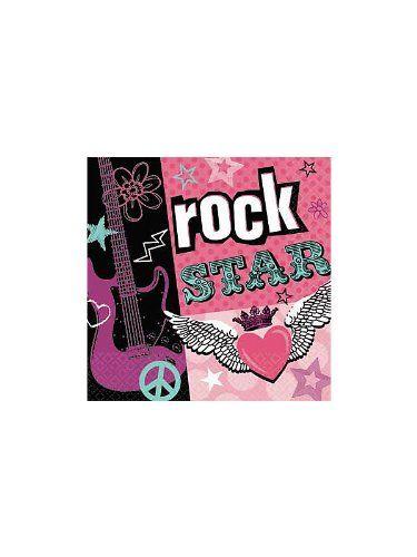 Amscan Rock Star Girl Napkins 16-pack