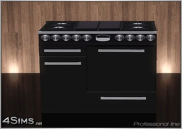 Dual Fuel Gas Range Professional Stove Line For Sims 3