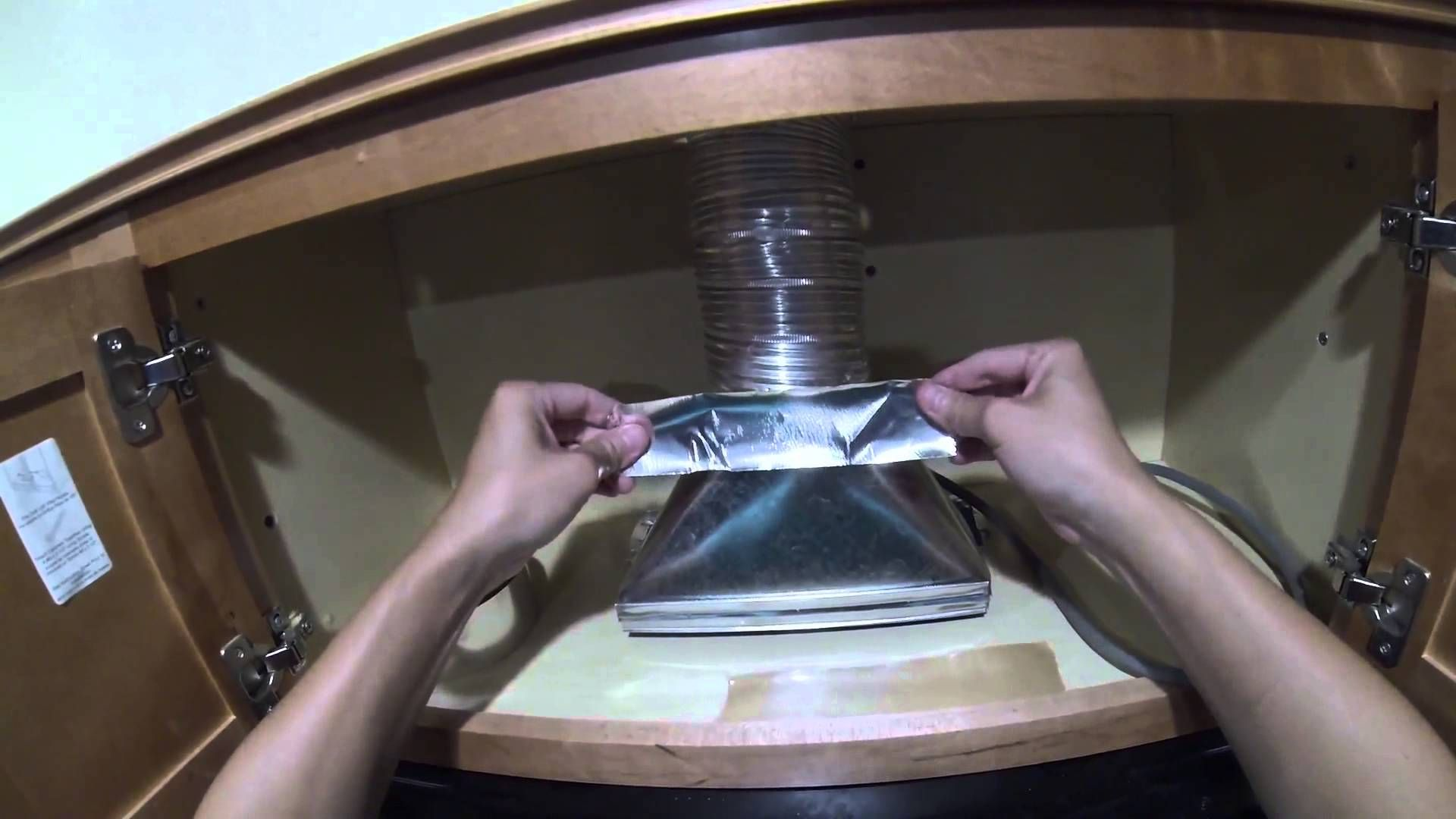 How To Install A Microwave Hood With Exhaust Fan Diy Microwave