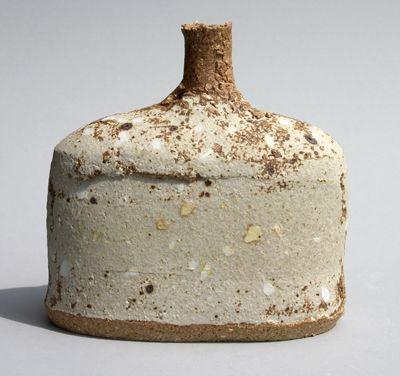 tumbleword:    Jane Wheeler  Chalk Beach Porcelain Inlay Bottle