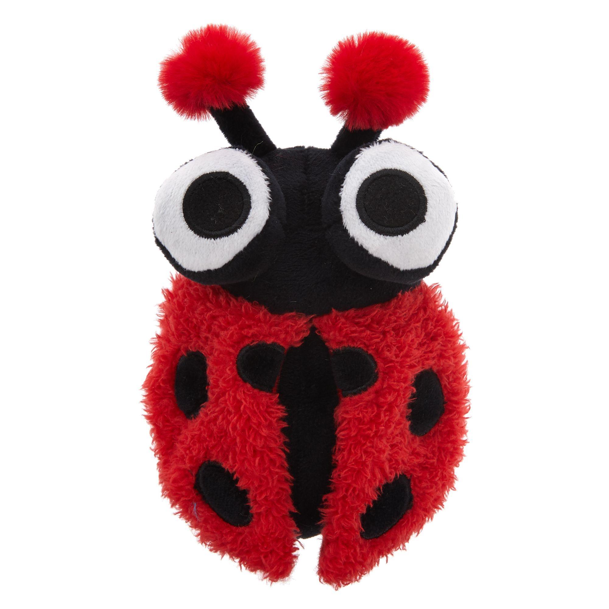 Top Paw Ladybug Ball Dog Toy Plush, Squeaker Dog toys