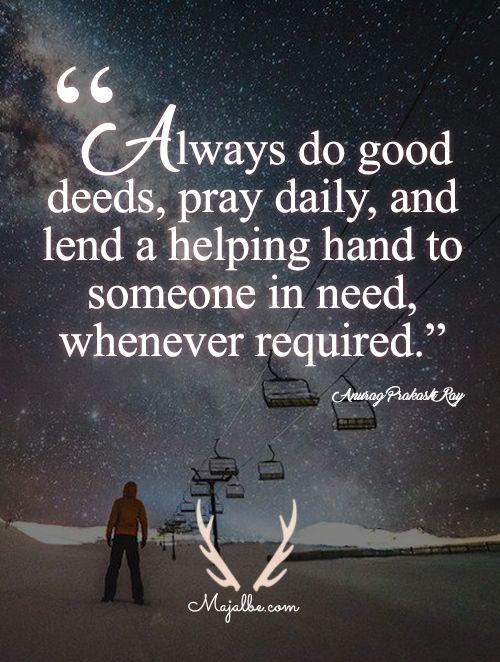 Doing Good Deeds Love Quotes Attitude Of Gratitude Words Of