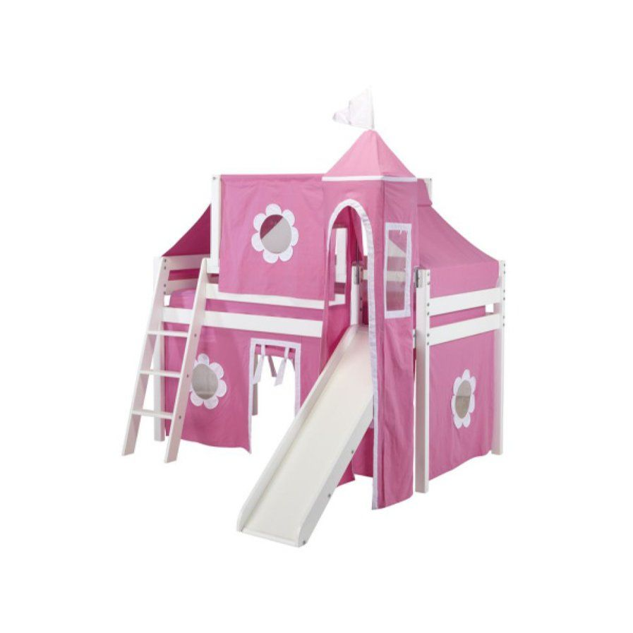 Loft bed with slide kmart  Kids Fun Princess Twin Low Loft Bed  bella bed room  Pinterest