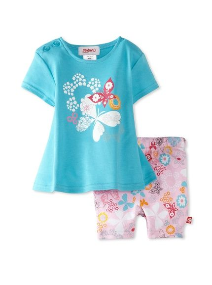 Zutano Baby Girl Infant Dreamy Swing Tee  Short Set, www.myhabit.com/...