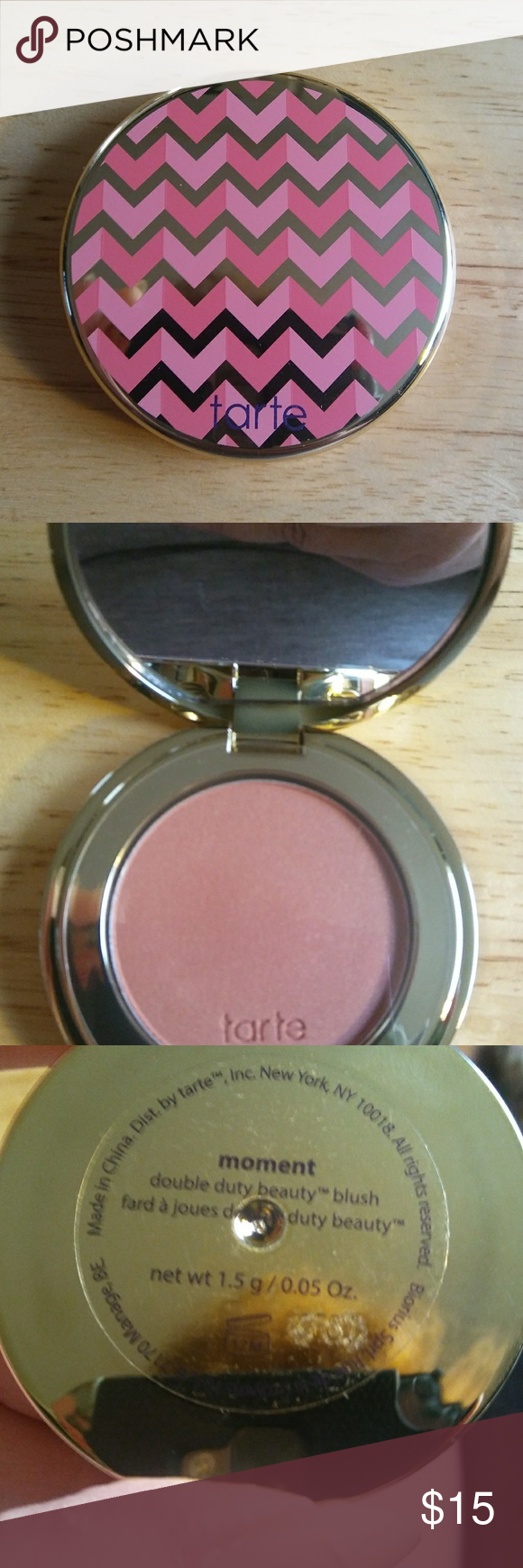 Blush Brand New Never Used Or Swatched Tartes Double Duty Beauty Blush In The Shade Moment Comes In An Adorable Mirrored Blush Makeup Blush Beauty Blush