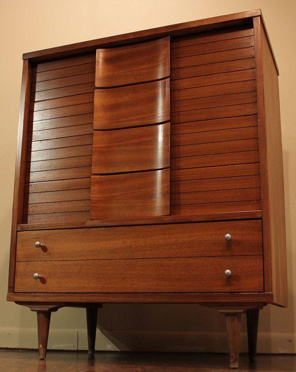 Vintage Carper Johnson Danish Style Mid Century Dresser