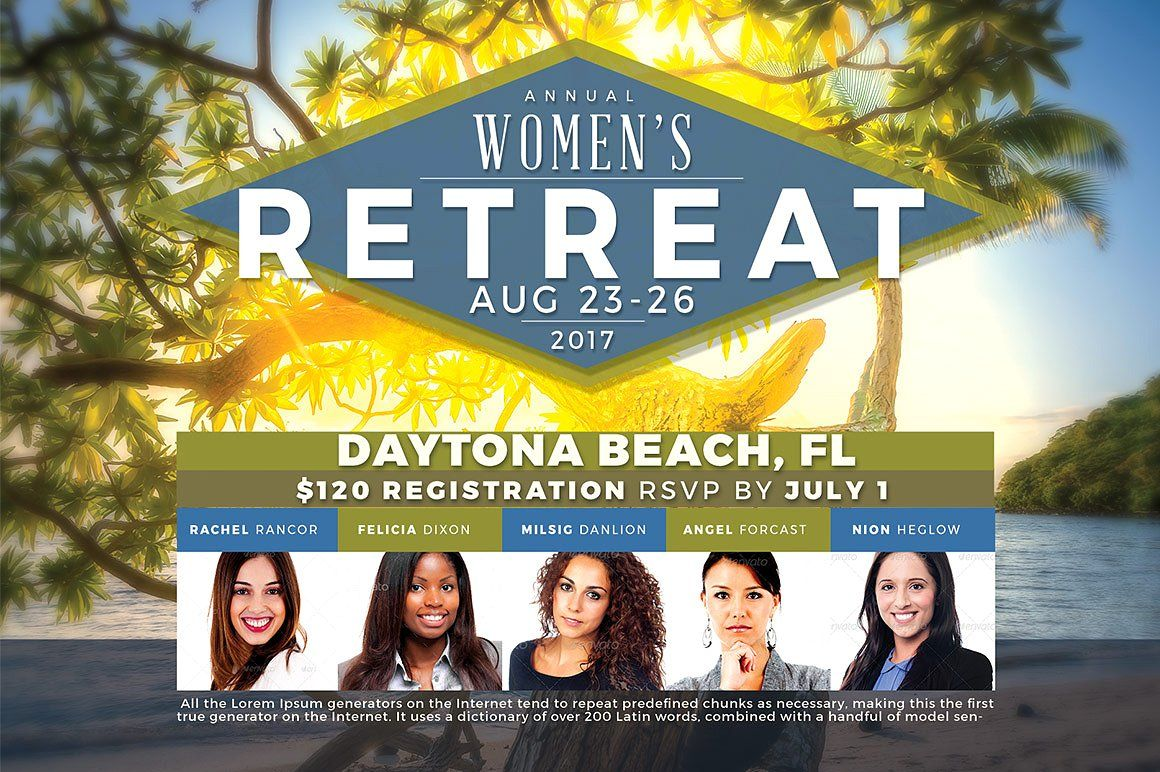 women s retreat flyer template by seraphimchris on creativemarket