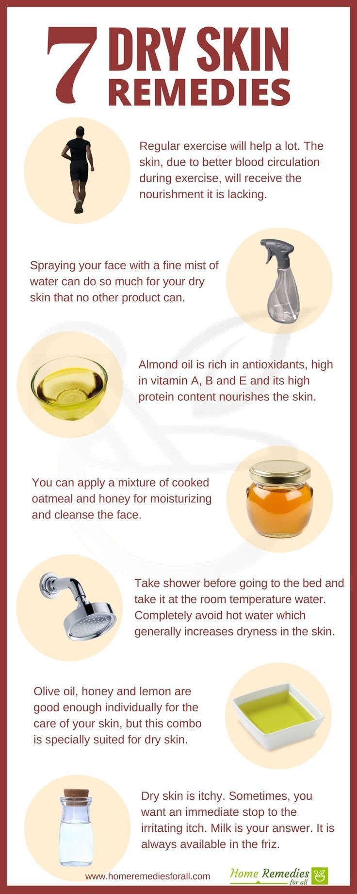 These 8 most effective home remedies will get rid of your dry skin