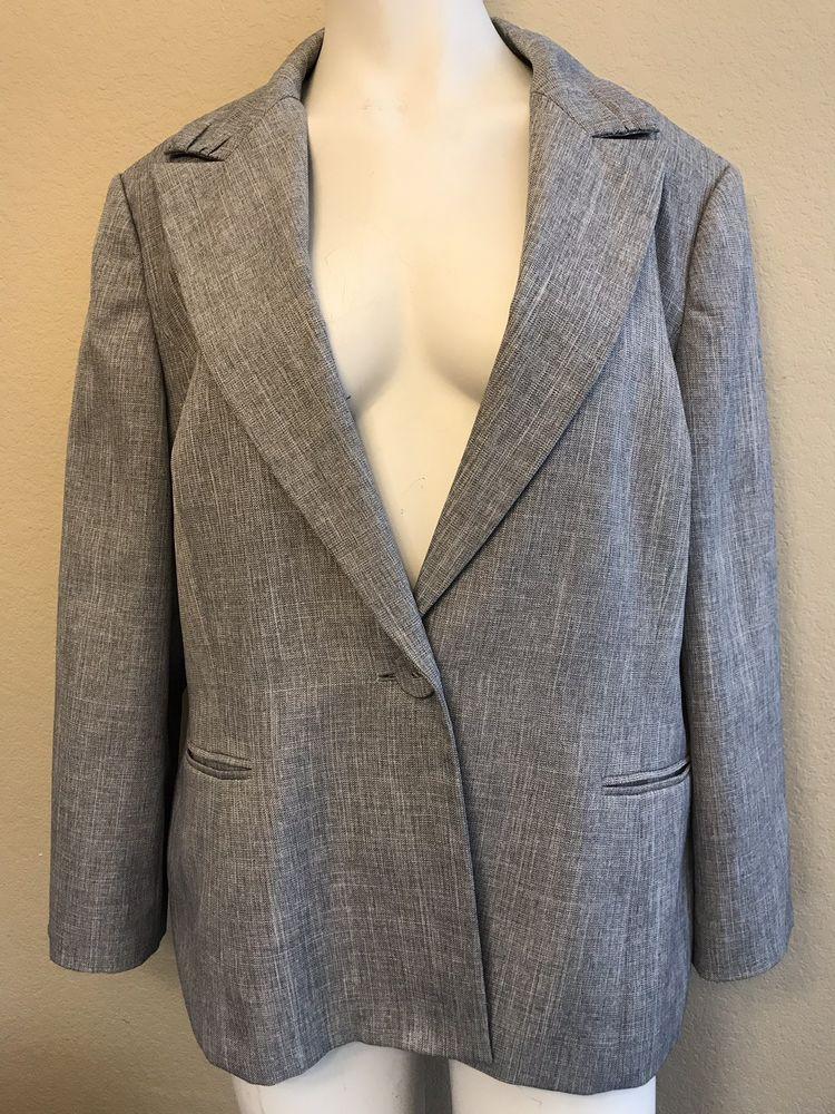 fa07b2ac1d7d8 Le Suit Ladies Size 18 Blazer Blue Gray Lined Career Jacket #LeSuit  #DressJacketBlazer