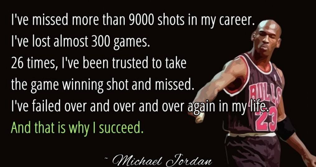 A lesson in perseverance from the great Michael Jordan