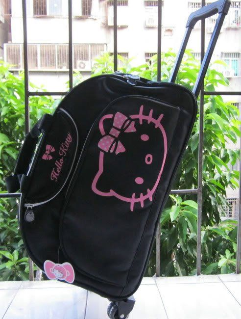 19f1bb7cb Awesome hello kitty black trolley case/piggy bag travel bag US $60.00