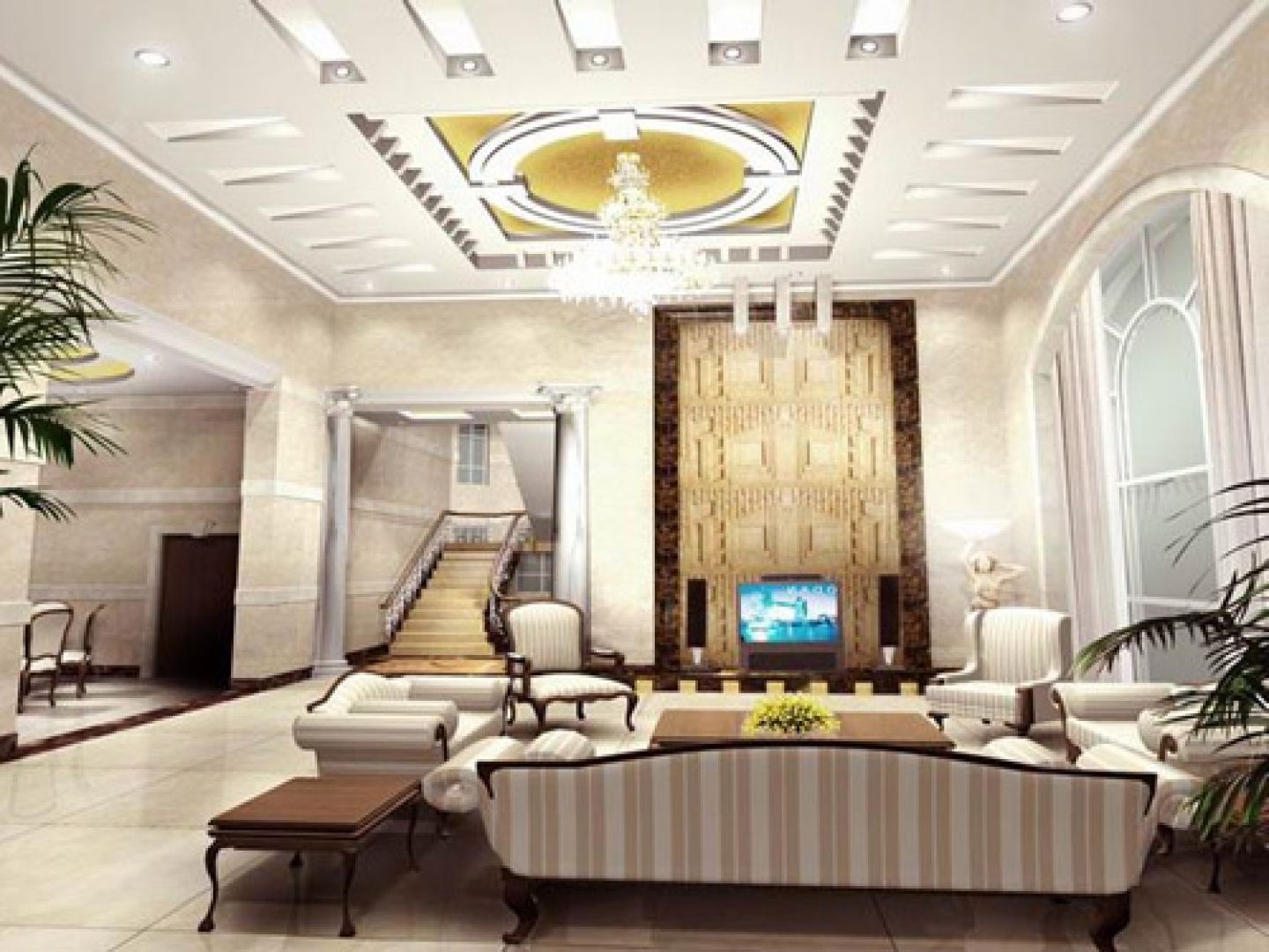 Ceiling designs for your living room ceilings living for Pop interior design for hall