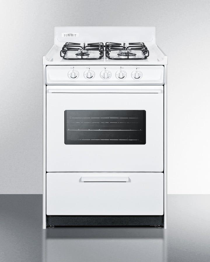 Summit Wtm6107sw Gas Range Burners Gas Oven