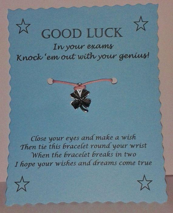 Exam Good Luck Wish Bracelet Keepsake Gift Etsy Good Luck Gifts Wish Bracelets Good Luck Wishes