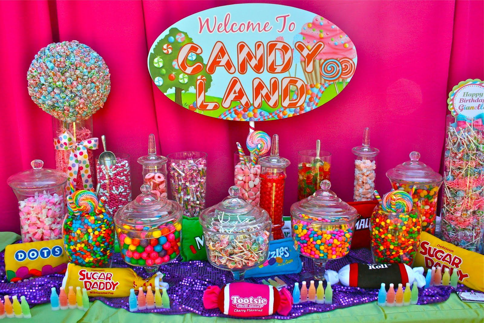 Candy buffet candy land quinceanera and party planning ideas pinterest candy land buffet - Candyland party table decorations ...