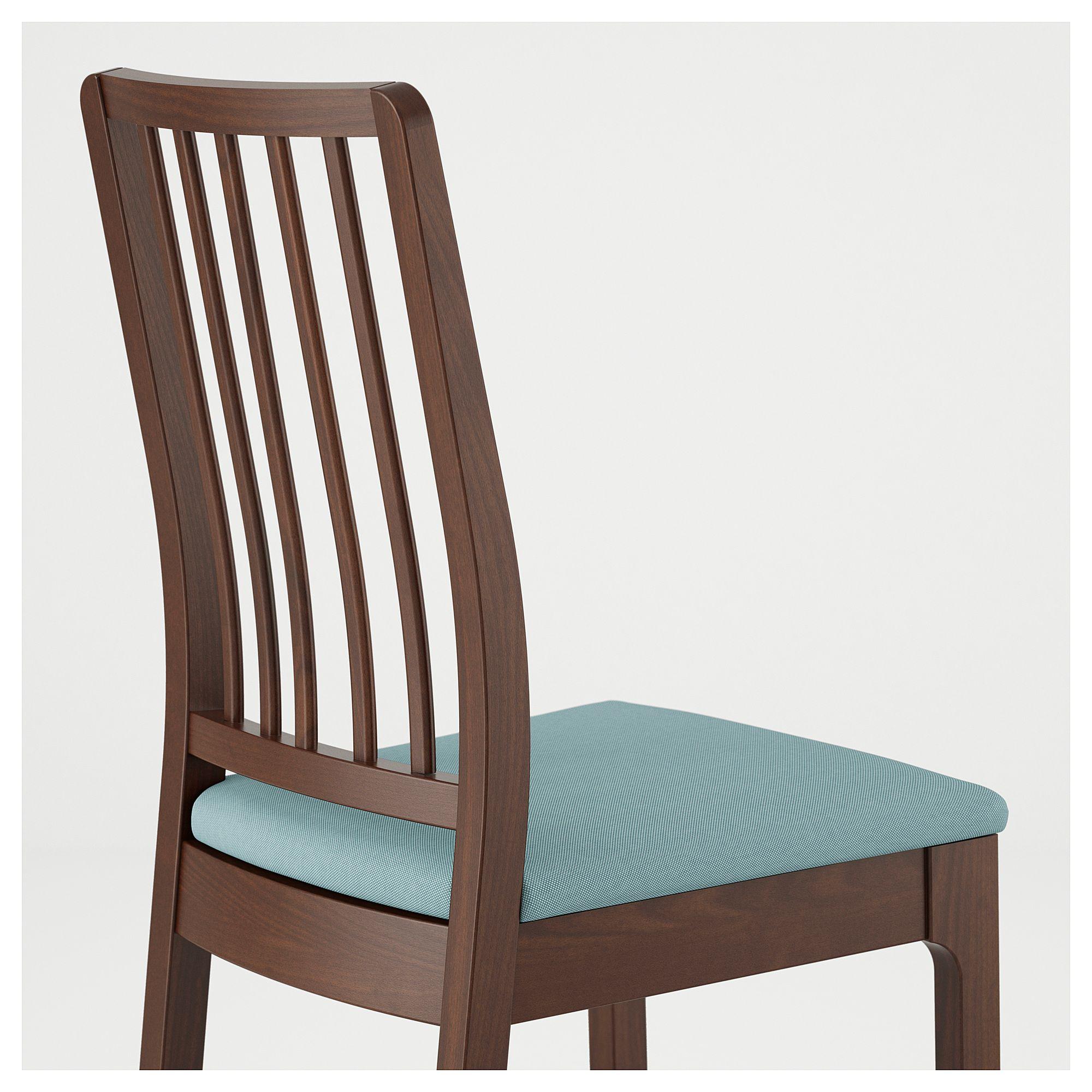IKEA EKEDALEN Chair brown, Orrsta light blue Light