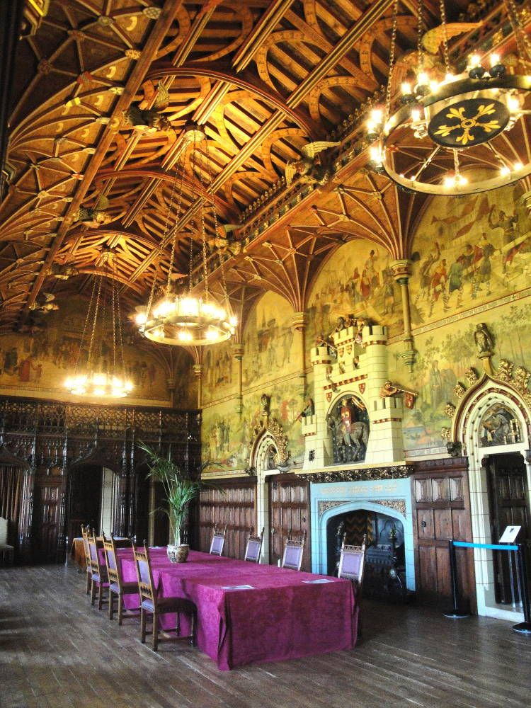 Cardiff Castle Interior, Cardiff, South Wales, by William ...