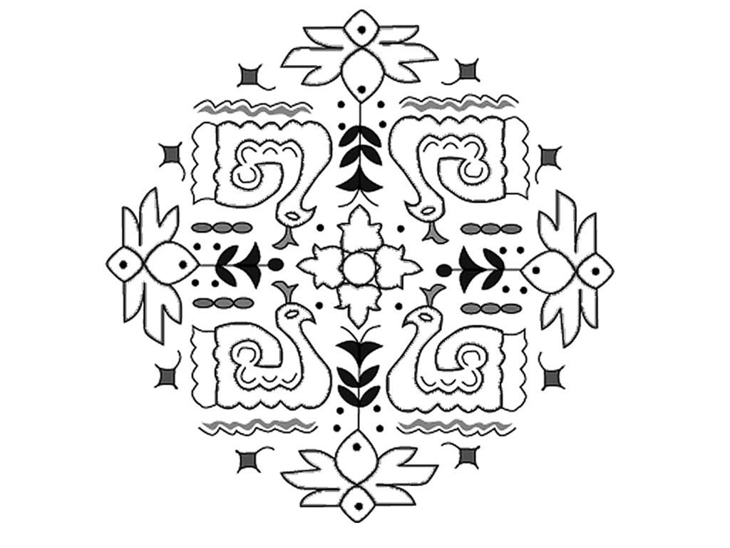 Free Printable Rangoli Coloring Pages For Kids Kids Printable Coloring Pages Cinderella Coloring Pages Bunny Coloring Pages