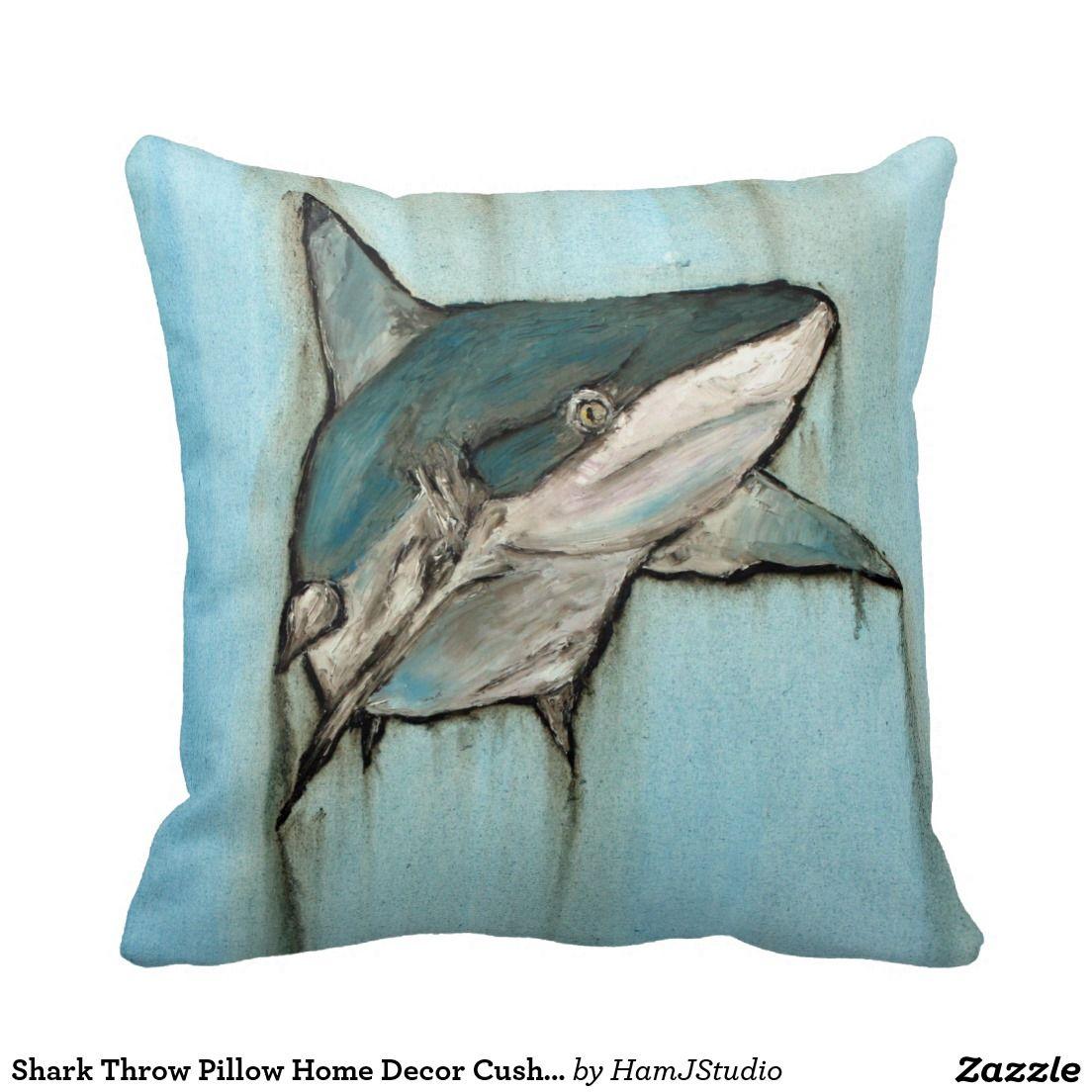 bd825a2af52b Shark Throw Pillow Home Decor Cushion Room Themes