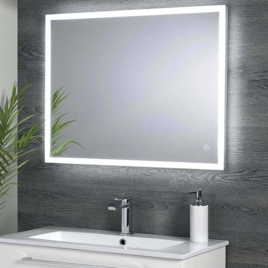 Harbour Glow Led Mirror With Demister Pad Infrared Touch Button