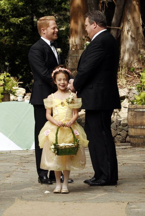 Here Is One Of The Families From Show Modern Family On Their Wedding