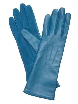 Gants Tara Jarmon turquoise bi-matière  ec13903b7fc