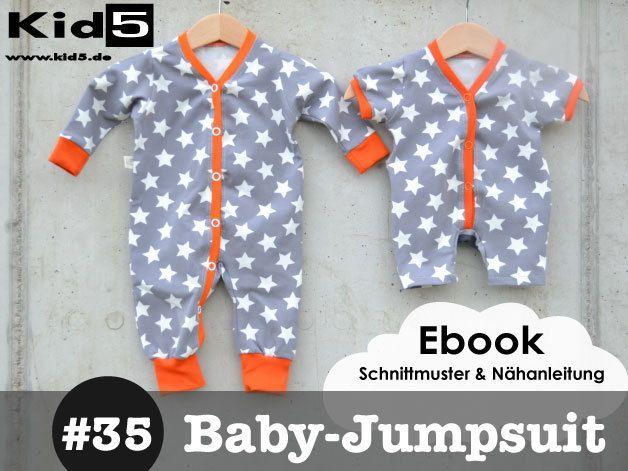 35 Baby-Jumpsuit Ebook + Schnittmuster | SM Baby/Kinder Hosen ...