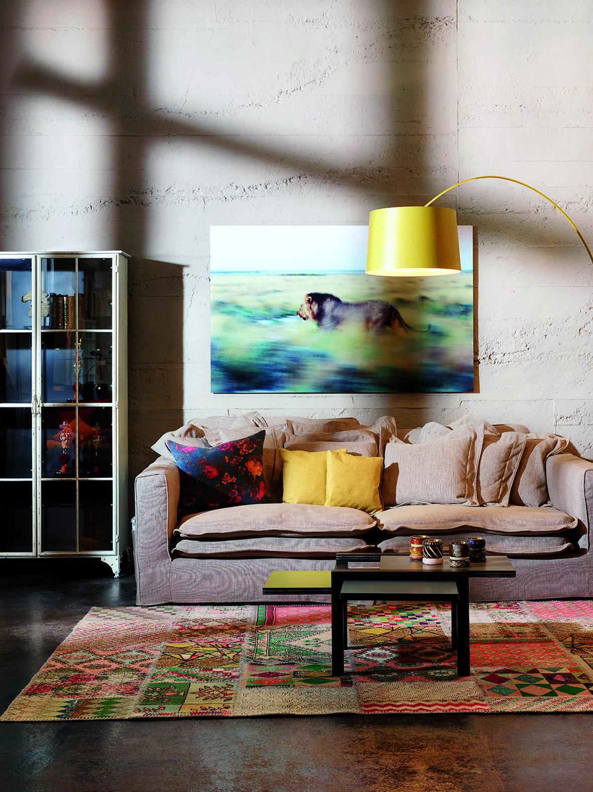 kontrast vintage furniture living sofa foscarini