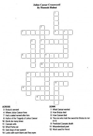 Whs Julius Caesar News Word Search Crossword With Images