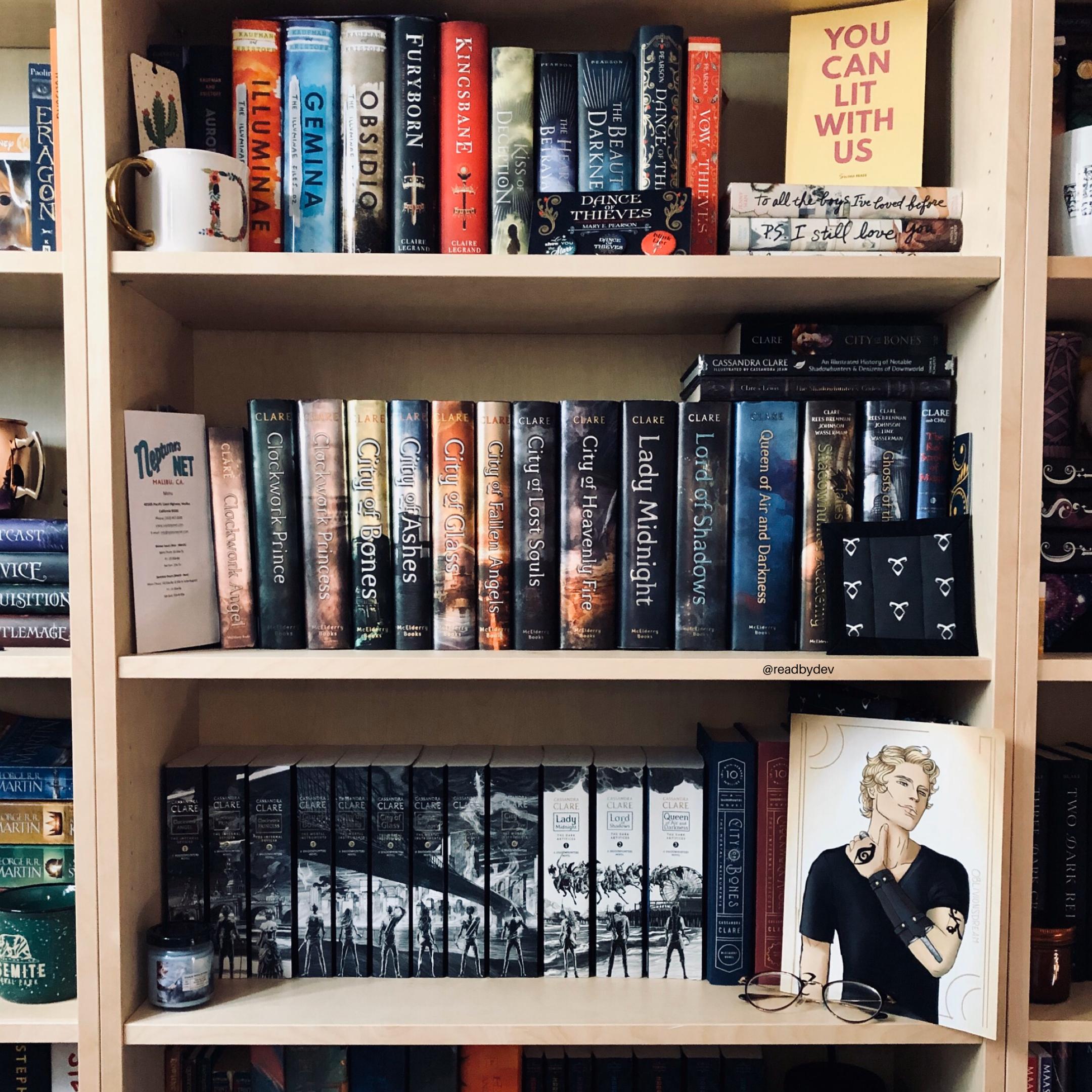 Shadowhunter Shelfie Shelfie Bookshelf Inspiration Cassandra Clare Books