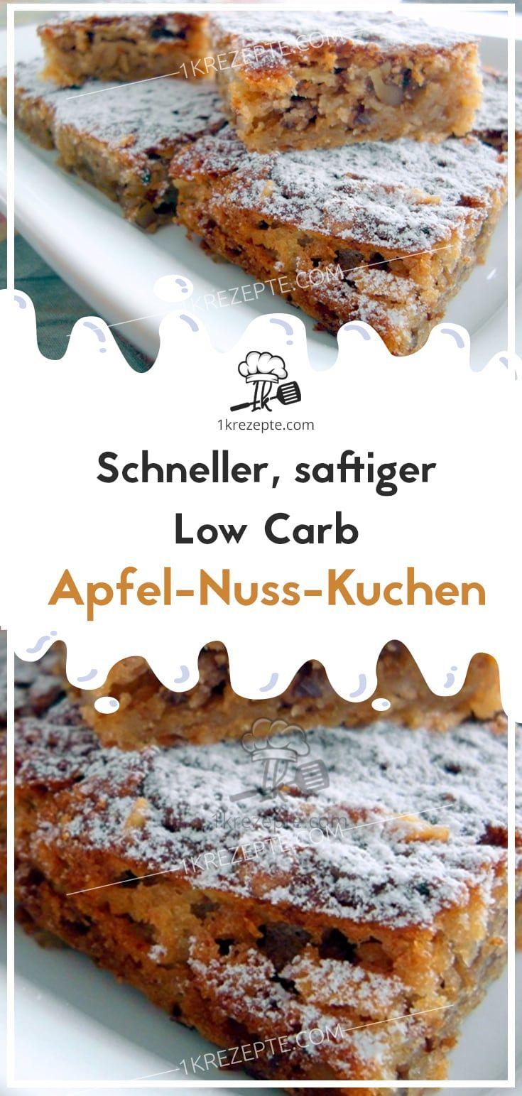 Schneller, saftiger Low Carb Apfel-Nuss-Kuchen #mugcake