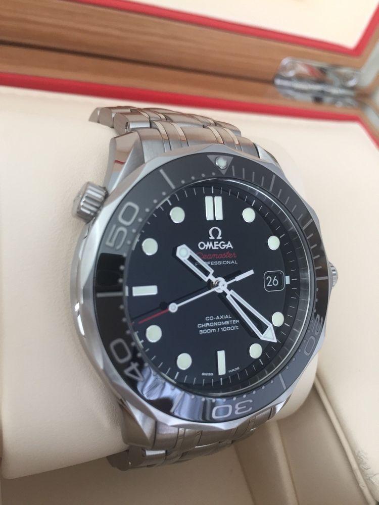 Omega Seamaster 300M Diver Black Coaxial Chronometer Swiss Made  21230412001003 f20b1fb7aa
