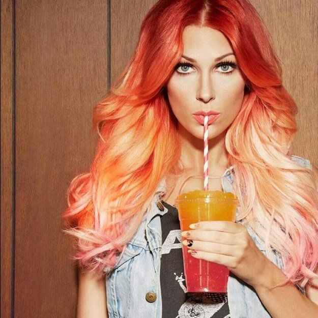 15 Ombre Hair Color Ideas To Inspire You Orange Ombre Ombre And
