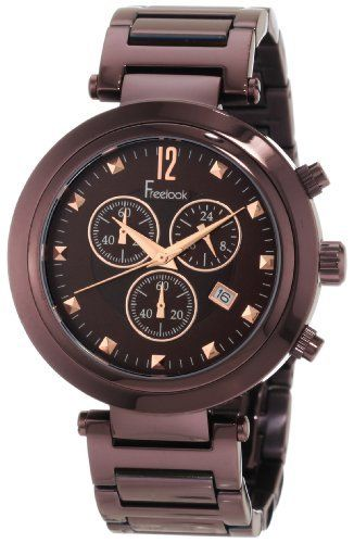 Freelook Unisex Ha1136chm 2 Cortina Chocolate Chronograph Watch Freelook 164 99 Water Resistant To 165 Feet 50 M Fashion Watches Chronograph Watch Unisex