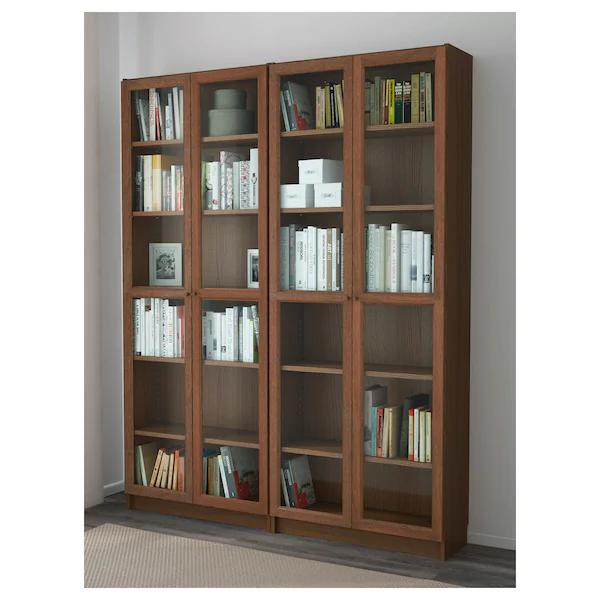brown ash veneer BILLY Extra shelf