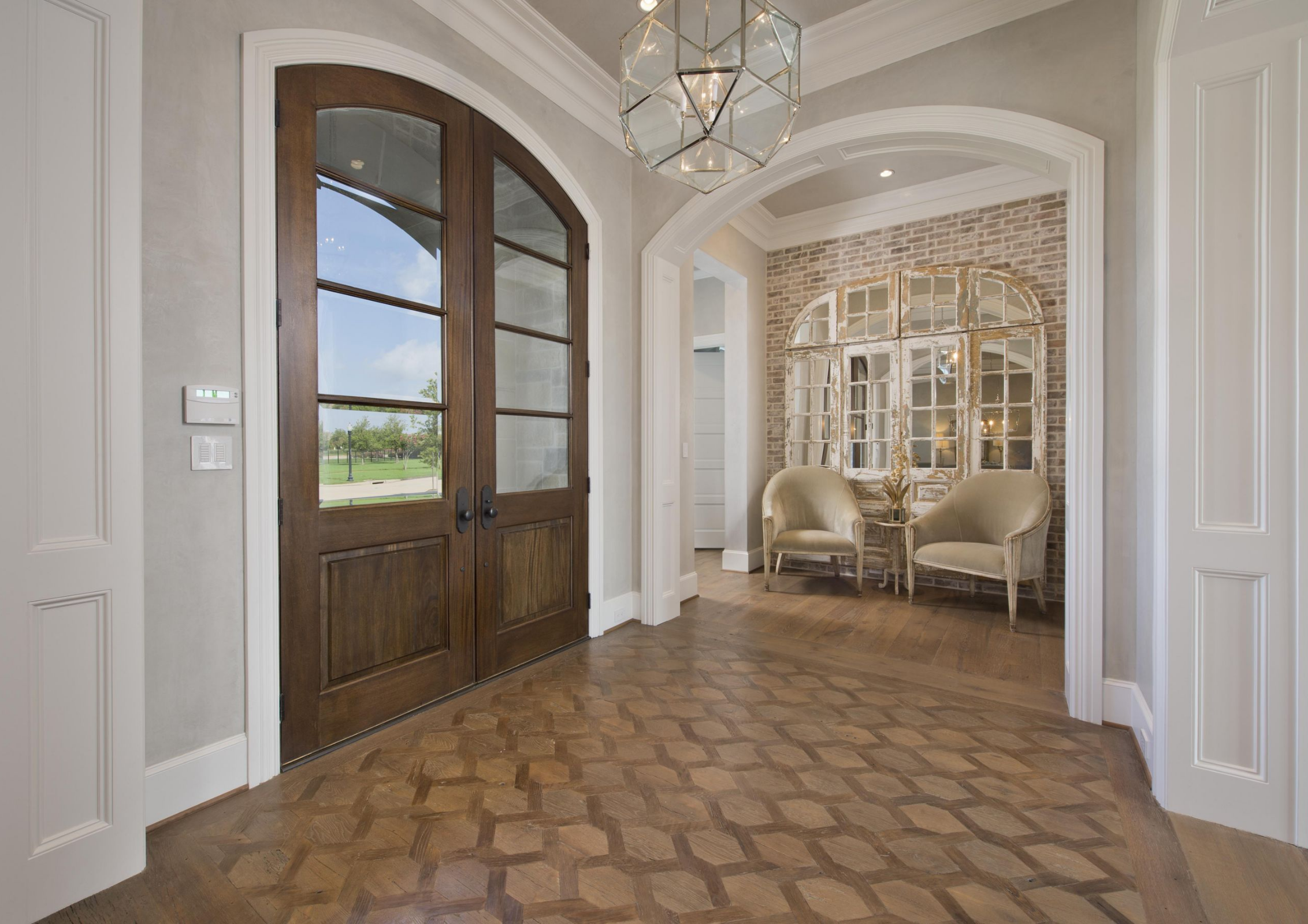 Home interior front this elegant entryway by twentytwo fifty interiors is made perfect