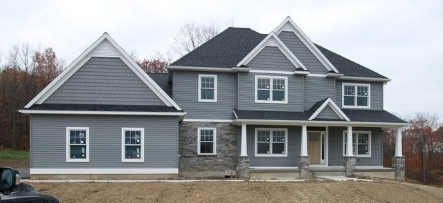 Cape Cod Gray Siding Google Search Gray House Exterior Grey Siding House Exterior House Colors Combinations