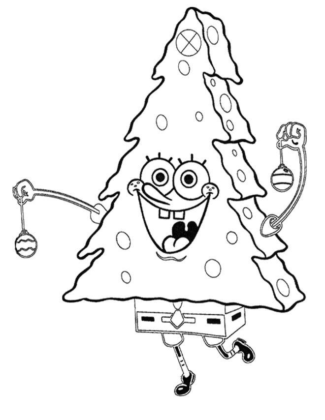 Spongebob Alone Coloring Page Printable Christmas Coloring Pages Christmas Tree Coloring Page Christmas Coloring Pages