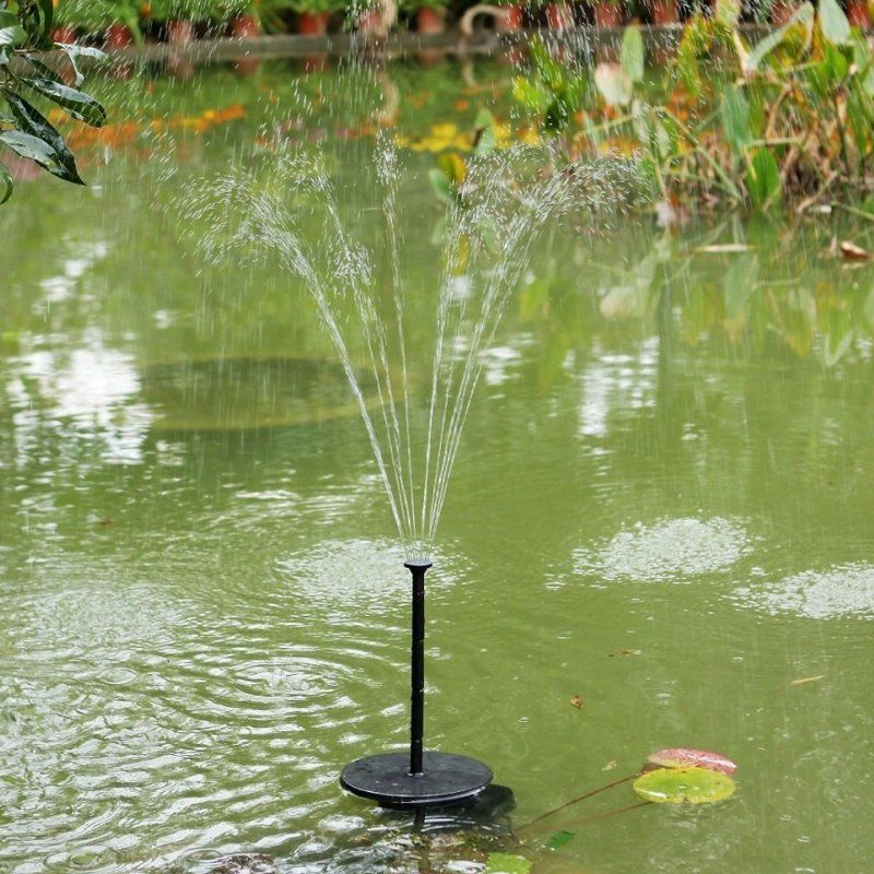 Solar Fountain Floating In Water Water Features In The 400 x 300